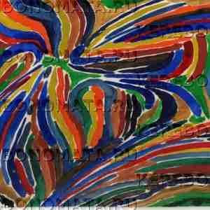 бабочка, абстракция, акварель, резонансная графика
