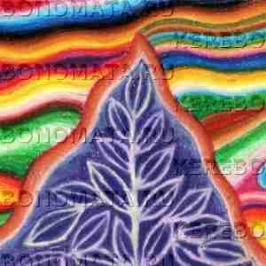 магический росток, пастель, резонансная графика